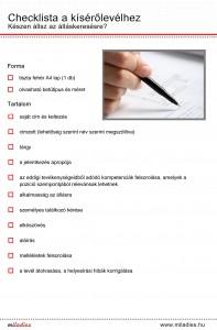 Miladies checklista a kiserolevelhez