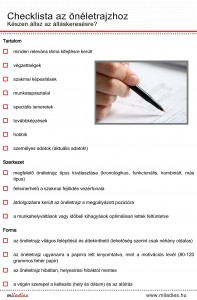 Miladies checklista az oneletrajzhoz